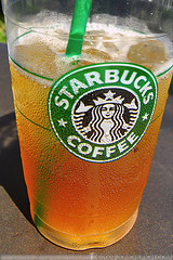 Venti unsweet black iced tea - now a specialty beverage!